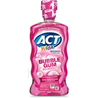 Act Kids Anti-Cavity Fluoride Rinse Mouthwash with Fluoride & Exact Dosage Meter,16.9 Fl Oz (Bubblegum Blowout)