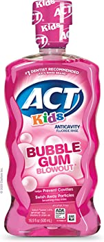 Act Kids Anti-Cavity Fluoride Rinse Mouthwash 16.9 Fl Oz