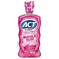 ACT Kids Anti-Cavity Fluoride Rinse Bubblegum Blowout Children's Mouthwash with...
