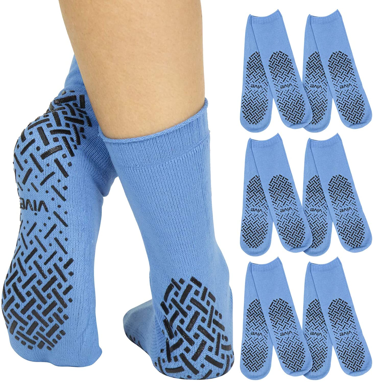 Vive Non Slip Hospital Socks (6