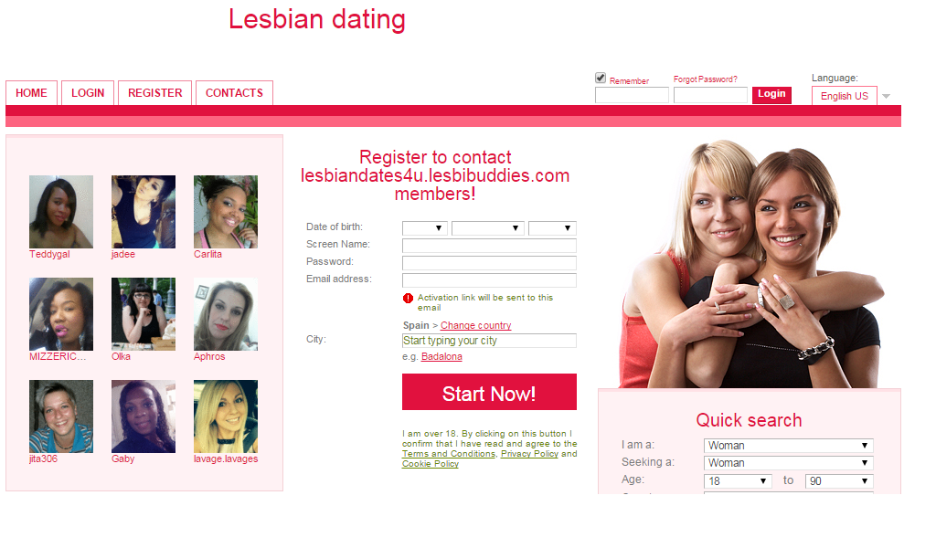 casual lesbian dating