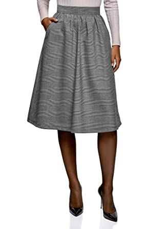 5af4a362b oodji Ultra Women's A-Line Skirt with Pockets: Amazon.co.uk: Clothing