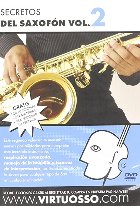 Amazon.com: Virtuosso Saxophone Method Vol.2 (Curso De Saxofón Vol.2) SPANISH ONLY: Musical Instruments