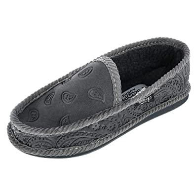 96f7793b38e8 Image Unavailable. Image not available for. Color  Trooper America Men s  Black on Black Paisley Bandana Print House Shoe Slippers
