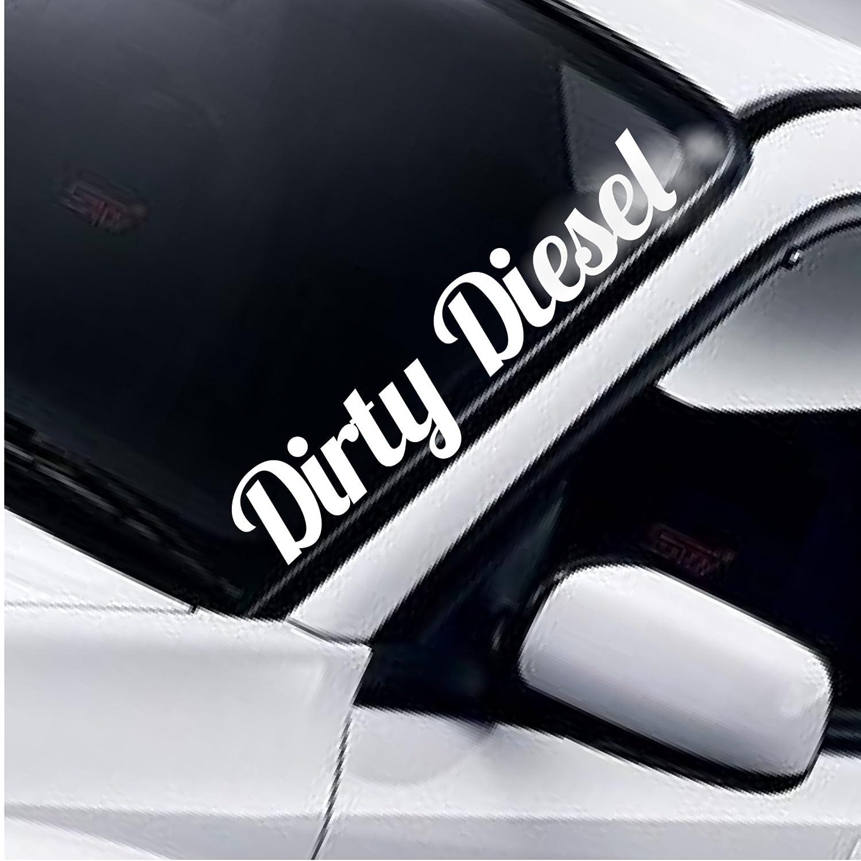 Dirty Diesel Windschutzscheibe Aufkleber Heckscheibe Static AutoAufkleber Stance Low Lowered Slammed DUB 4x4 AWD Off Road Truck Tuning Frontscheibenaufkleber Frontscheibe Sticker Decal