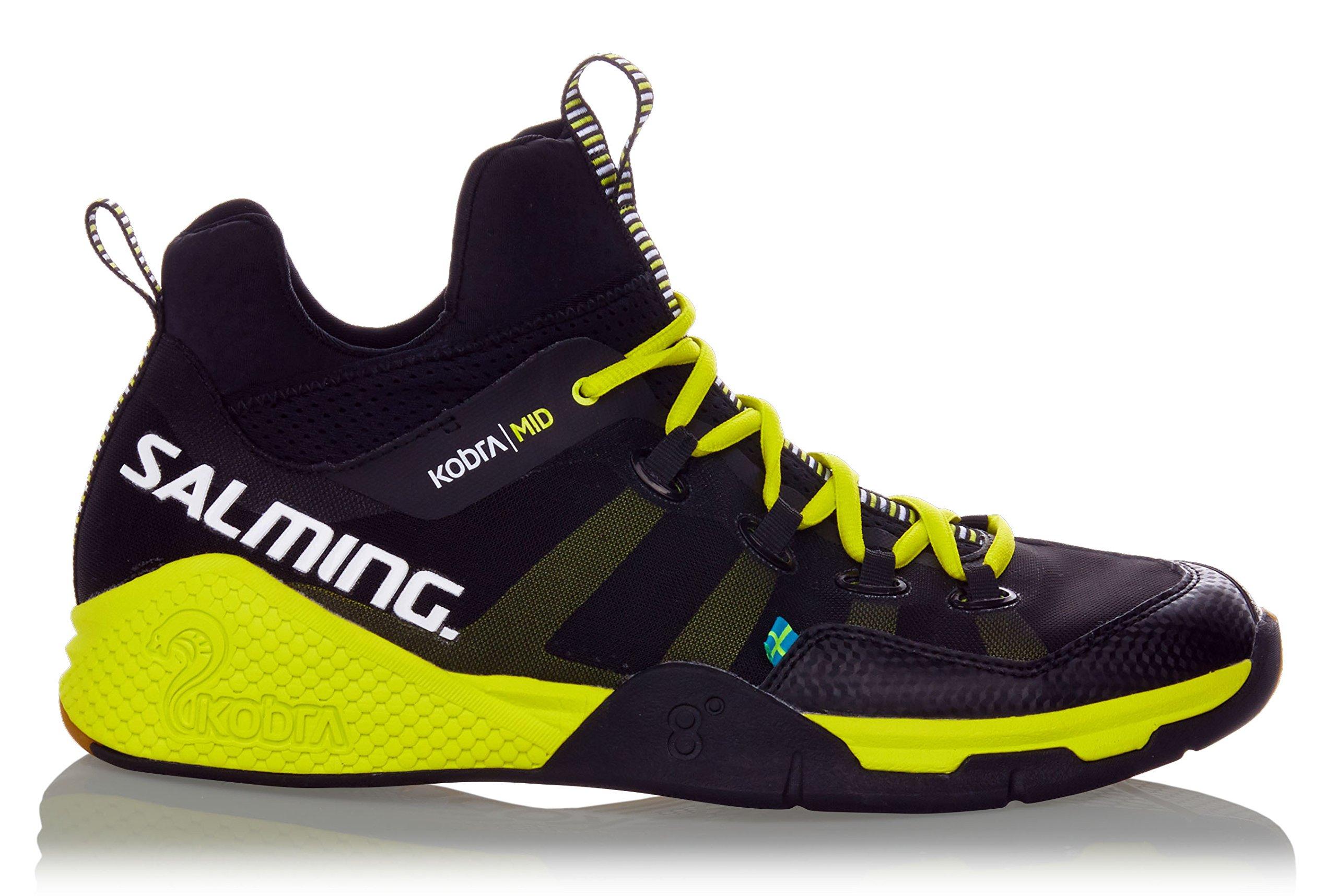 Salming Kobra Mid Men's Indoor Court Shoe Black/Yellow (14)
