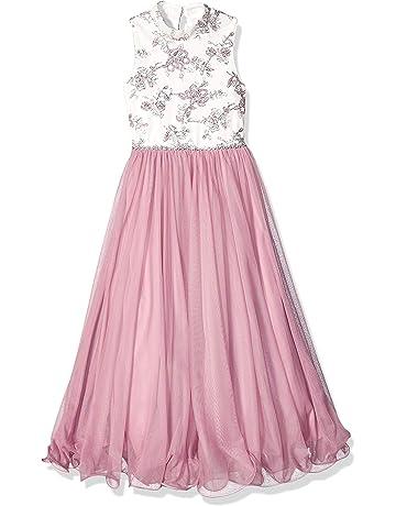 2c521845 Speechless Girls' Big 7-16 Mock Neck Full Length Wire Hem Maxi Dress