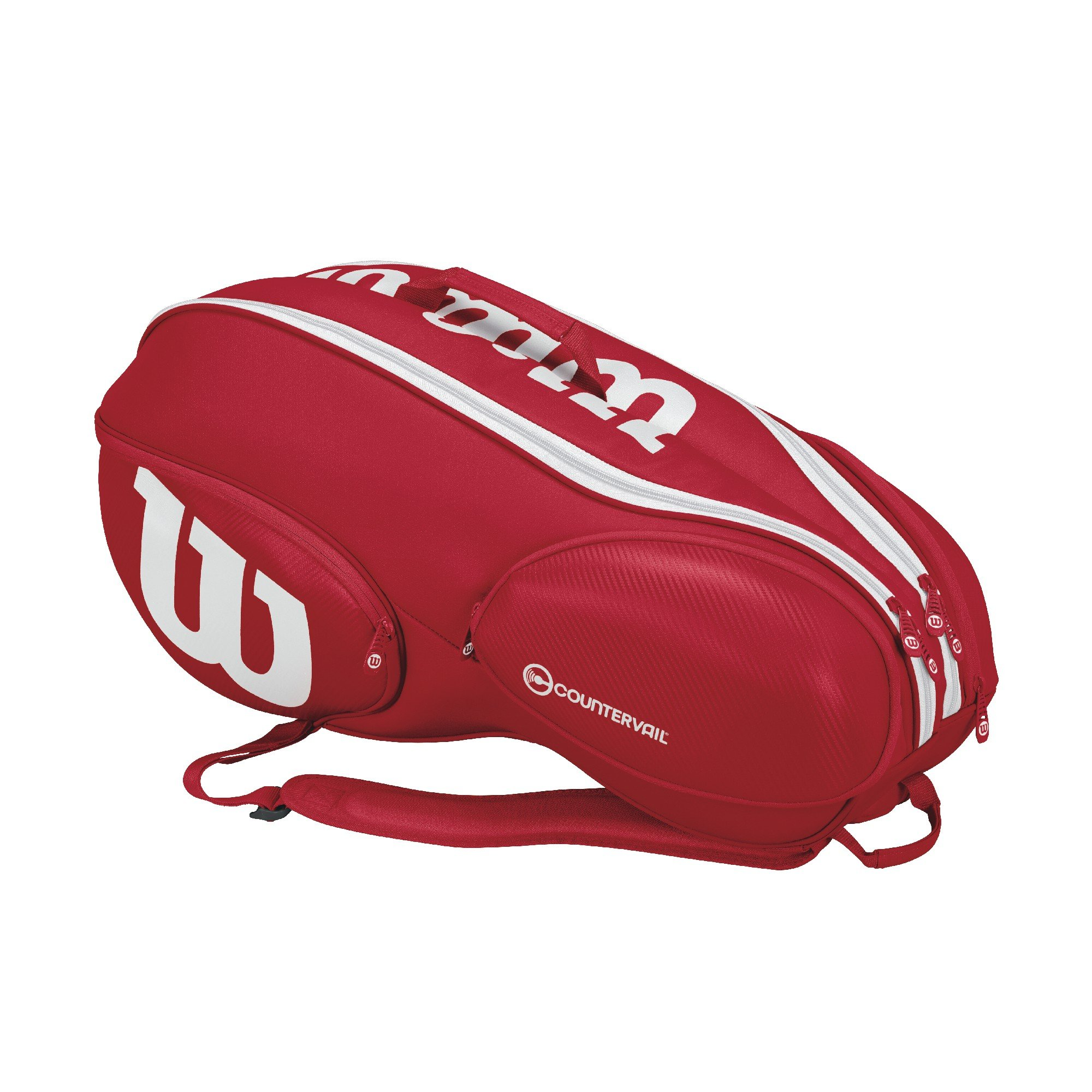 Wilson Pro Staff Tennis Bag - Red /White,9 Pack by Wilson (Image #2)