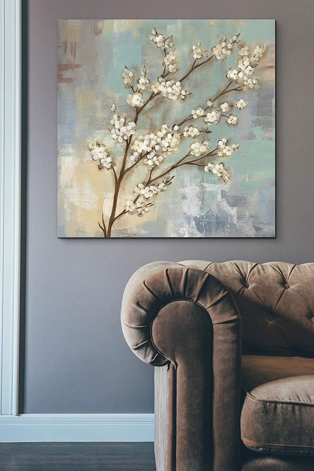Epic Graffiti Kyoto Blossoms I Giclee Canvas Wall Art 26 x 26 Green