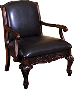 Furniture of America Toren Leatherette-Executive Style Arm Chair