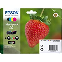 Epson Original C13T29864022 Tintenpatrone Erdbeere, Text und Fotodruck (Multipack, 4-farbig) (CYMK)