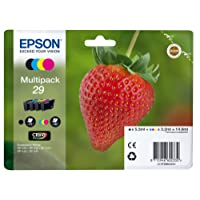 Epson Original T2986 Tintenpatrone Erdbeere, Claria Home Tinte, Text- und Fotodruck (Multipack, 4-farbig) (CYMK)