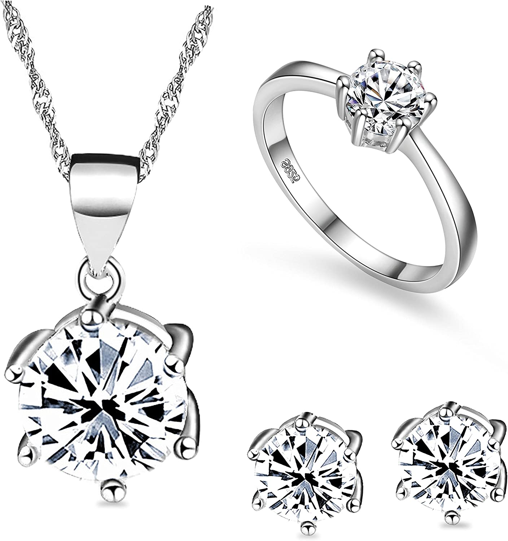 Women Engagement Jewelry Wedding Brand Earrings Crystal Stud Cubic Zircon