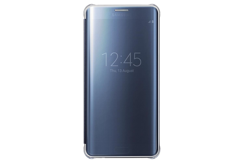 cheaper dafdb 69944 Samsung Galaxy S6 Edge Plus Case S-View Clear Flip Cover - Black Sapphire