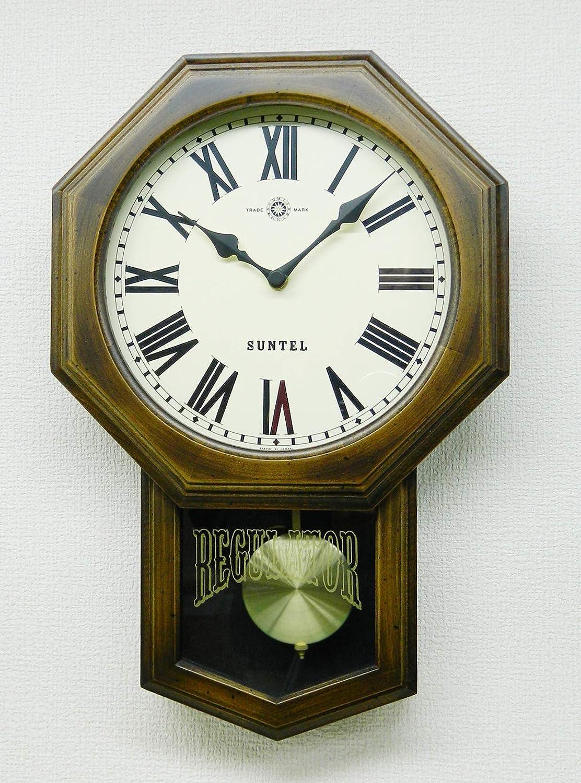 さんてる 掛け時計 ブラウン 400×260×70mm スタンダード 電波振り子時計(8角) ローマ数字 SR07-R   B07J5L1SLZ
