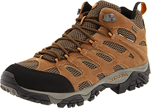 Merrell Men's Moab Mid Waterproof Hiking Boot,Earth,7 M US