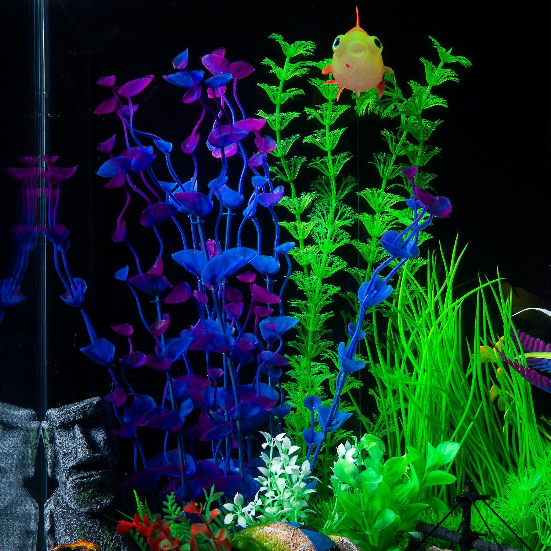 Plantas de Acuario Plantas Plástico Artificiales Decoración del Tanque de Peces Planta de Agua para Decoración de Acuario 11,8