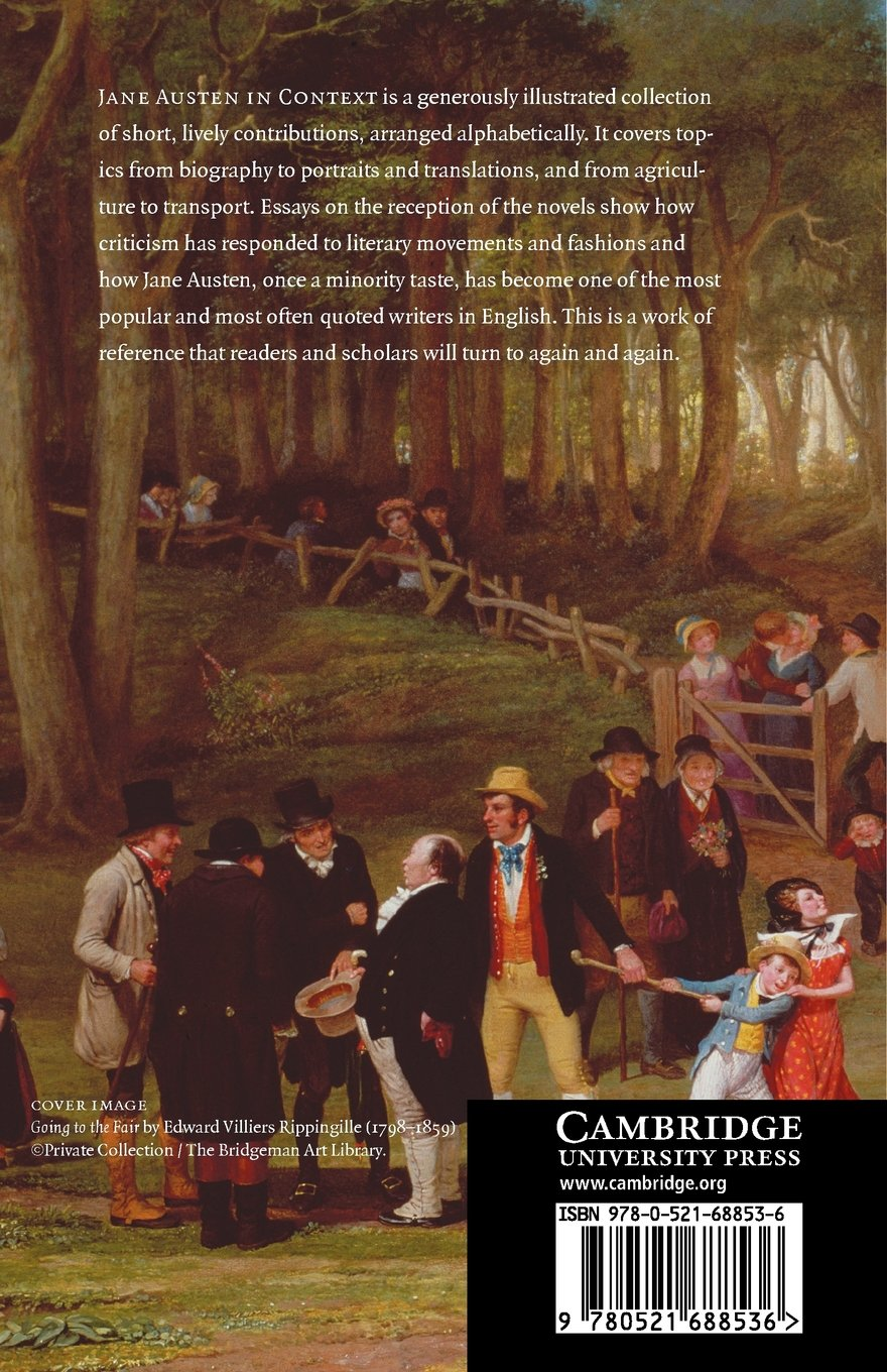 com jane austen in context the cambridge edition of the com jane austen in context the cambridge edition of the works of jane austen 9780521688536 janet todd books