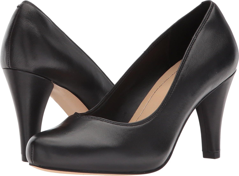 CLARKS Womens Dalia Rose B073X2XW56 9 B(M) US|Black Leather