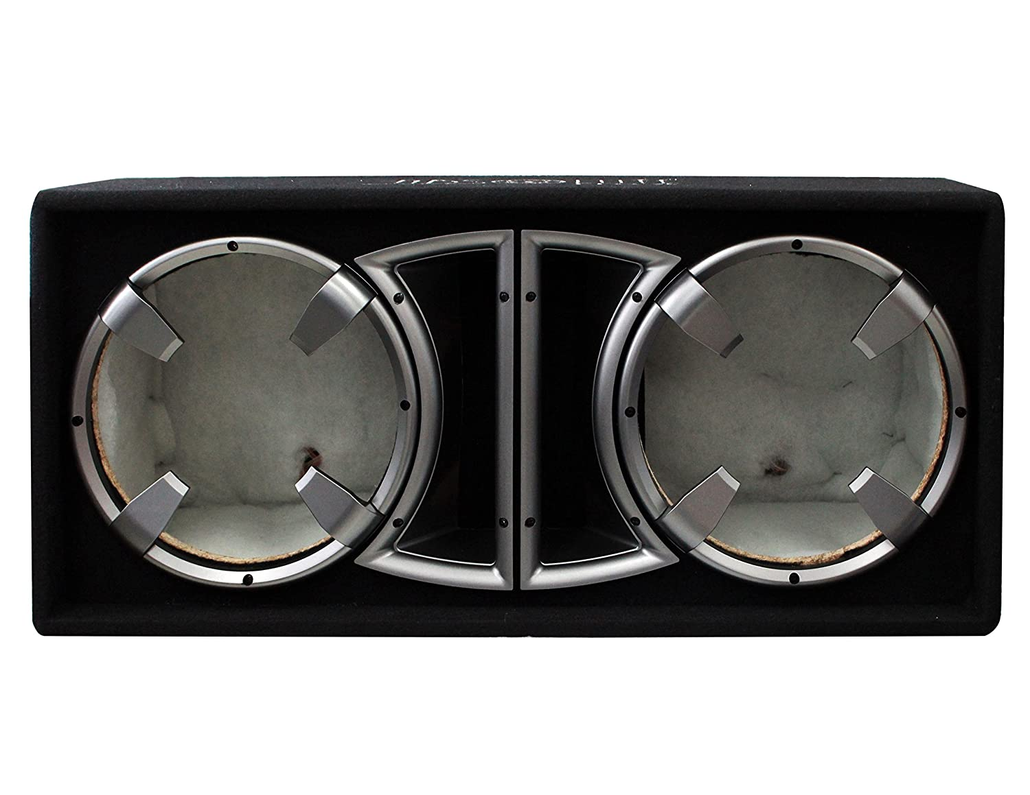 Absolute USA CDEB12BK Dual 12-Inch Ported Enclosure Subwoofer Box (Black)