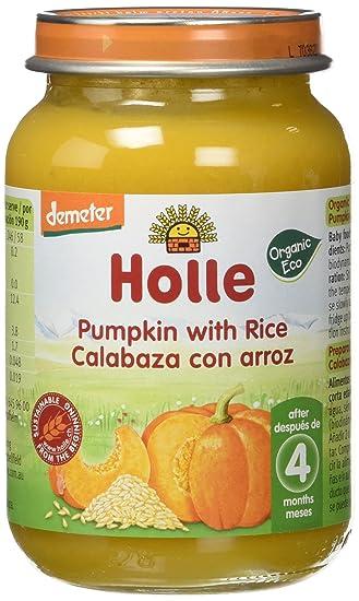 Holle Potito de Calabaza con Arroz (+4 meses) - Paquete de 6 x