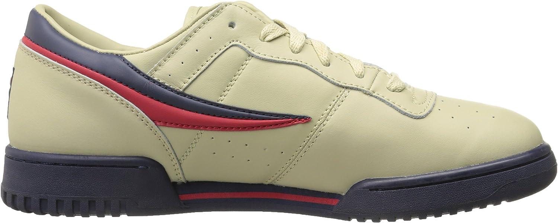 Fila Men's Original Fitness Lea Classic Sneaker Cream/Peacoat/Fila Red
