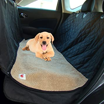 dog gone dog hammocks pet seat cover with beige soft washable fleece mat   2 piece amazon     dog gone dog hammocks pet seat cover with beige soft      rh   amazon