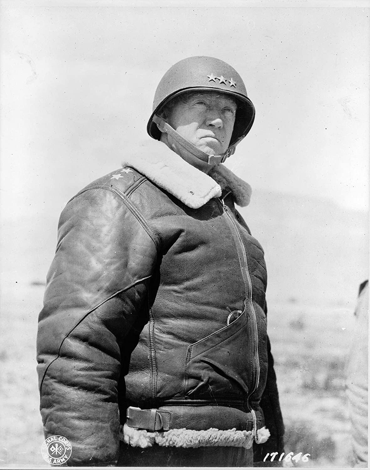 4 x 6 General George Patton Photograph - Gloss Historical Artwork from 1943 -