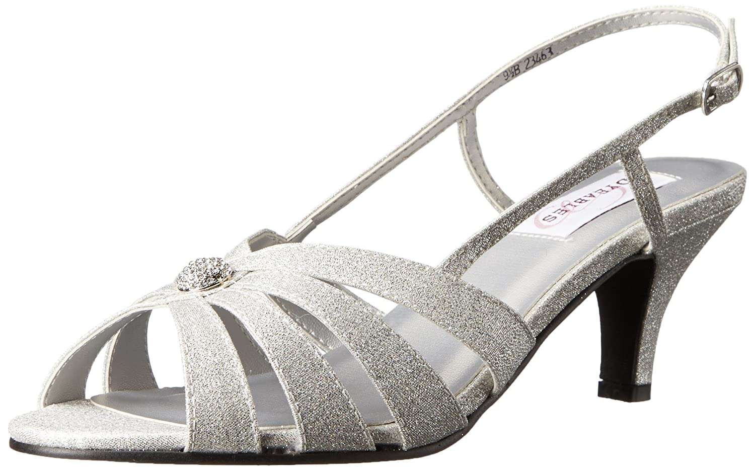 Dyeables, Inc Womens Fiona Dress Sandal B00ZWNBCYS 7.5 W US|Silver Sparkle