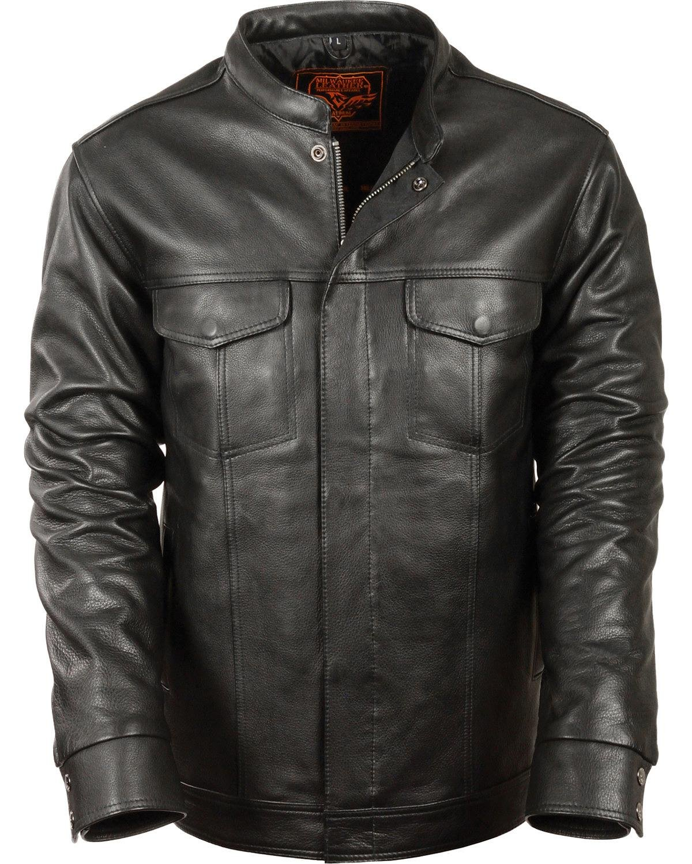 Milwaukee Leather Men's Club Style Shirt Jacket Big 5X Black 5X by Milwaukee Leather