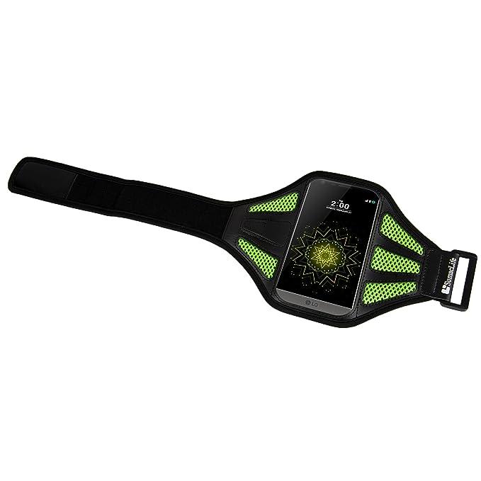 Amazon.com: Sumaclife Mesh Nylon Hybrid Sport Workout Running Armband LG G6 / G5 / V30 / V20 (Green): Cell Phones & Accessories
