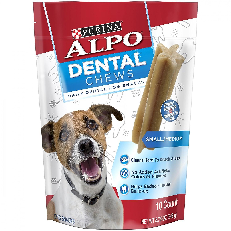 Purina Alpo Dental Chews 10 Count (Pack Of 3) Small Medium Daily Dental Dog Snacks