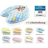 Cuscino gravidanza + 1x anche una federa, cuscino gravidanza di Sei Design XXL 190 x 30cm,i riempimento di perline in fibra 3-D - molto morbido e confortevole - sostenere la forza facilmente, regolabile mediante zip