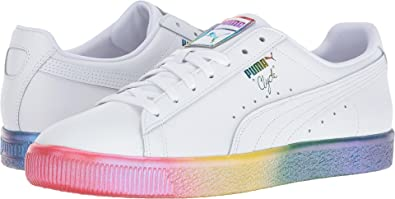 pretty nice c504d f0177 PUMA Men's Clyde PRD Puma White Athletic Shoe