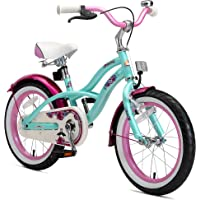 "BIKESTAR Bicicleta Infantil para niños y niñas | Bici 16 Pulgadas | Frenos de Tiro Lateral y Freno de contrapedal | A Partir de 4 años | 16"" Edición Cruiser 2018"