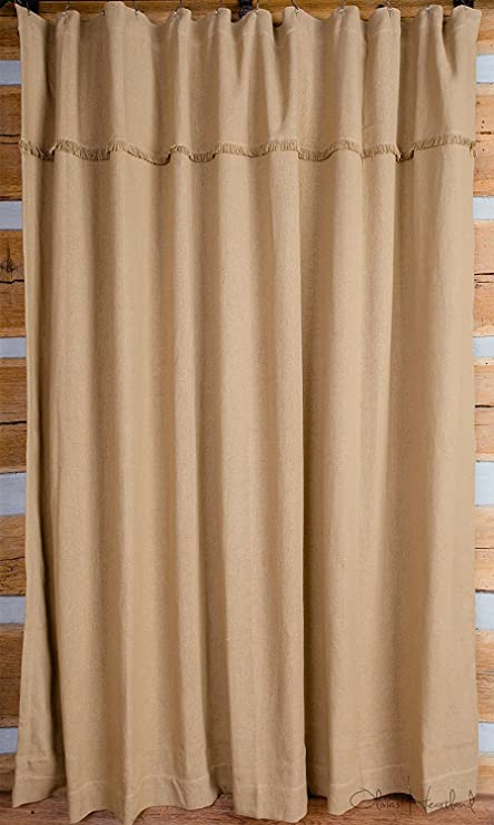 Amazon Deluxe Burlap Natural Tan Shower Curtain Home Kitchen