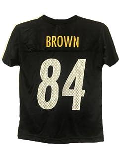 Antonio Brown Pittsburgh Steelers NFL Youth Black Home Mid-Tier Mesh Jersey e6aebbb57