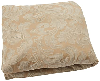 Sure Fit Scroll T Cushion   Chair Slipcover   Champagne (SF28786)