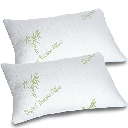 Amazon.com: Bamboo Pillows for Sleeping Set of 2 - Standard ...
