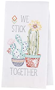 "Kay Dee Designs Cactus Garden Embroidered Flour Sack Kitchen Towel, 17.5"" x 28"", Various"