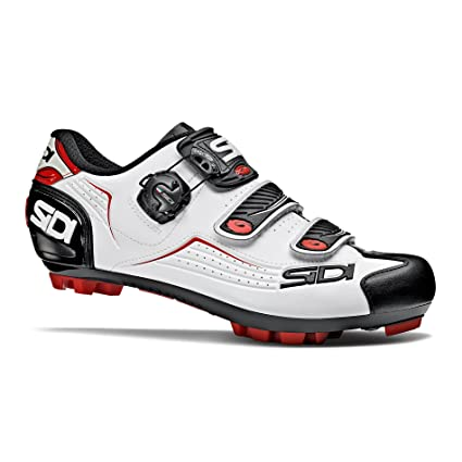4d8ecbc210a Amazon.com: Sidi Trace MTB Cycling Shoes - White/Black/Red (43 EUR ...
