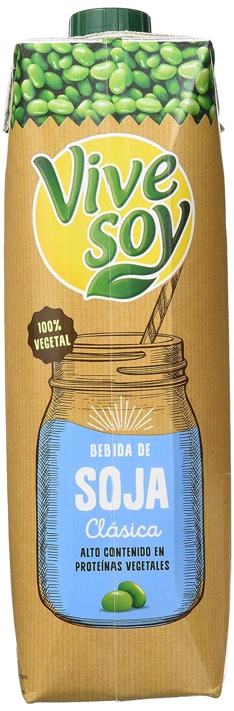 Vivesoy - Bebida de Soja Natural - Pack de 6 x 1 L - Total: 6 L [Pack de 2]: Amazon.es: Alimentación y bebidas