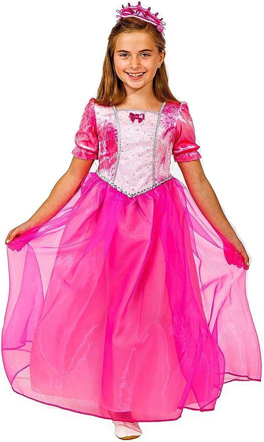 Deluxe Princesa Disfraz infantil Neon Color Rosa + Diadem ...
