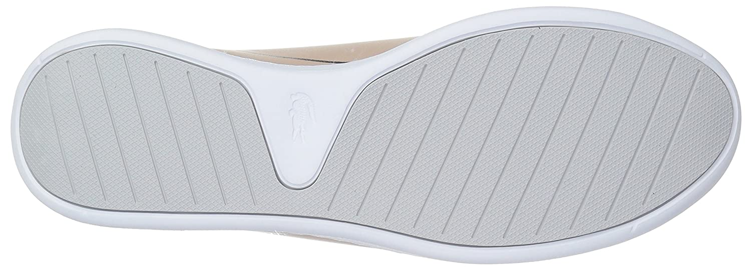 Lacoste Women's Eyyla Sneakers B071GQ3ZG3 7.5 B(M) US|Natural/Light Grey Leather