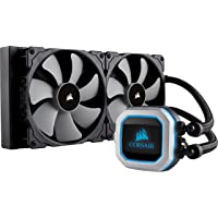 CORSAIR HYDRO Series H115i PRO RGB AIO Liquid CPU Cooler, 280mm Radiator, Dual 140mm ML Series PWM Fans, Advanced RGB Lighting and Fan Software Control, Intel 115x/2066 and AMD AM4 compatible