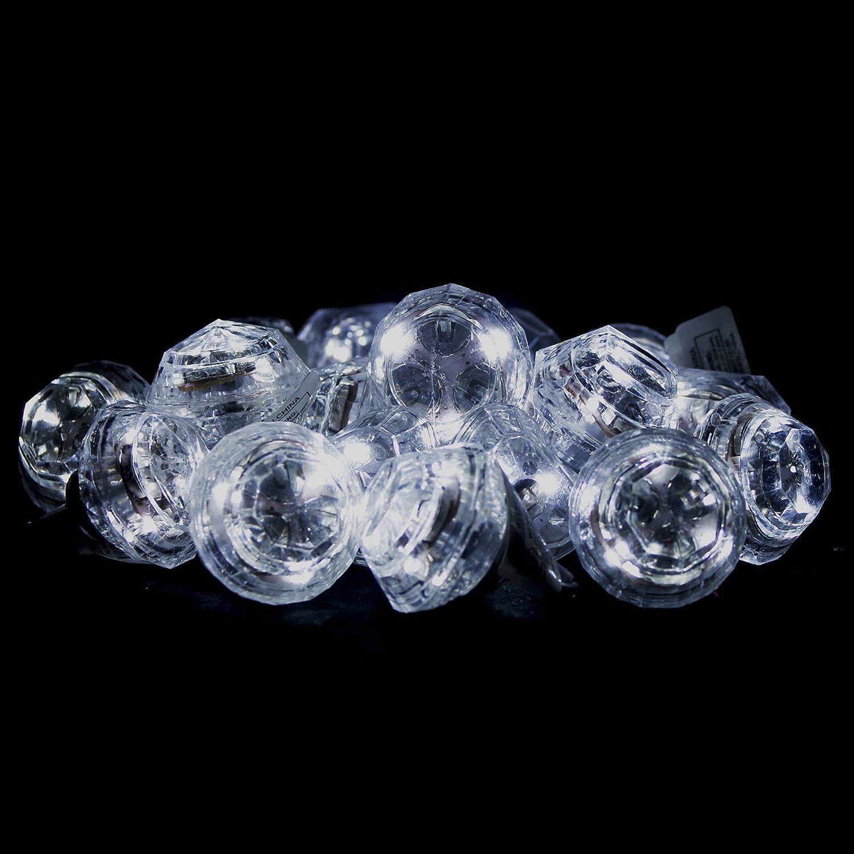 Fun Central M764 24pcs Led Light Up Diamond Bling Rings Jumbo Flashing Lights Assorted Toys Games