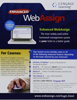 Webassign access code card one term version 9780130676511 amazon enhanced webassign single term loe printed access card for math sciences fandeluxe Choice Image
