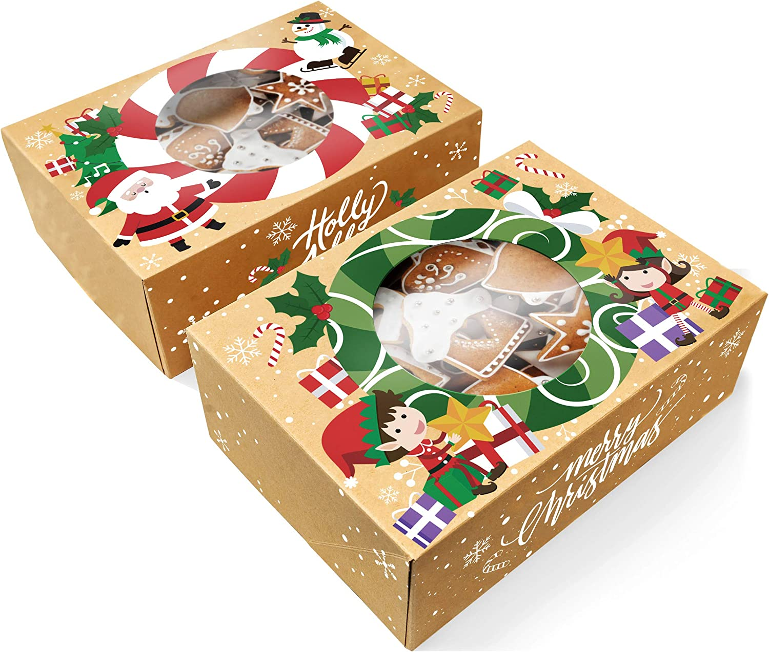 10 Pcs Elk Shaped Christmas Candy Box Cookie Package Case Chocolate Gift Boxes