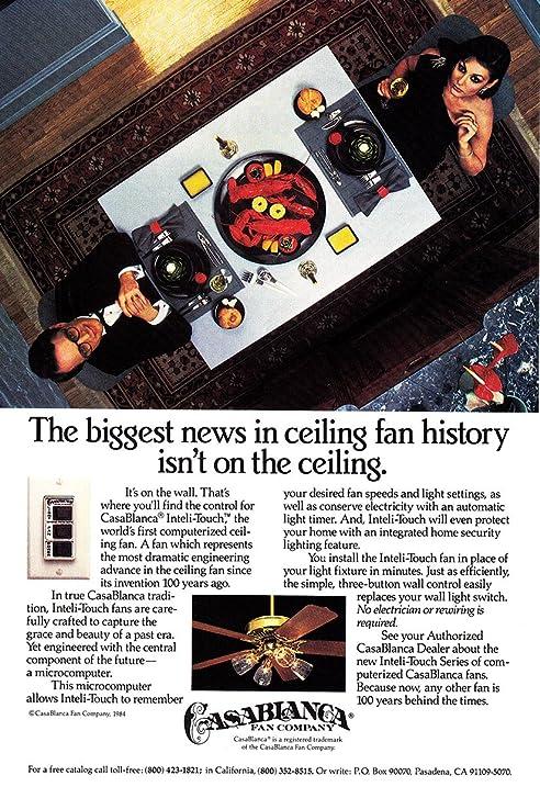 Amazon 1984 casablanca fan ceiling fan history dinner 1984 casablanca fan ceiling fan history dinner casablanca print ad aloadofball Images