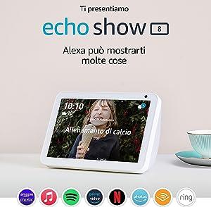 Ti presentiamo Echo Show 8 – Resta sempre in contatto con l'aiuto di Alexa - Tessuto grigio chiaro